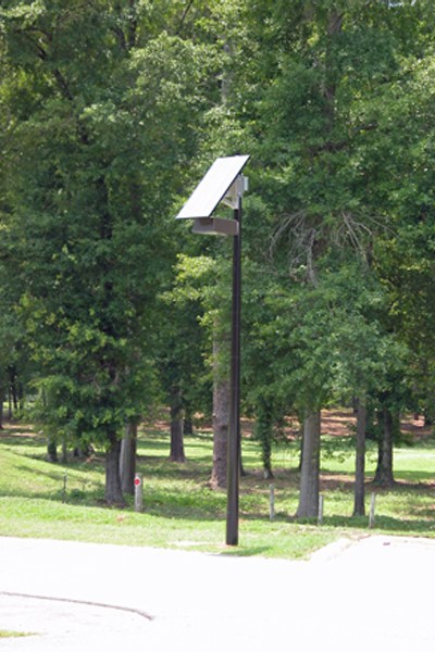 solar light for parking lot at jack mclean park