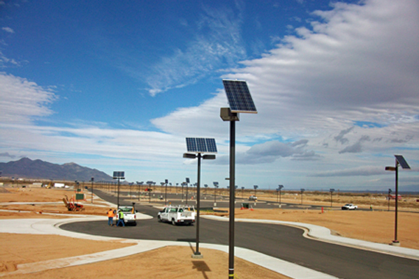 us military facility solar outdoor parking lot lighting