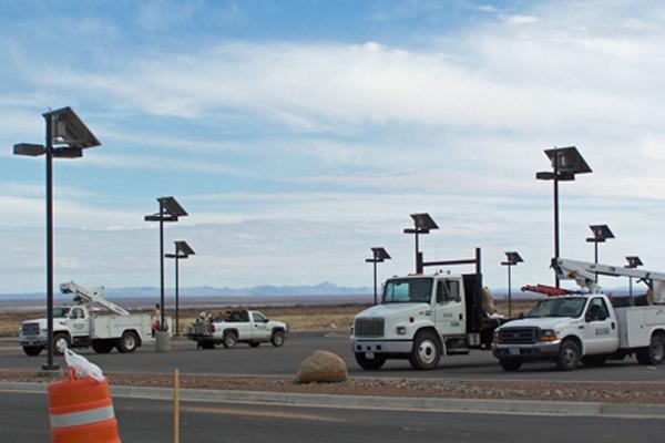 solar outdoor parking lot lighting off grid