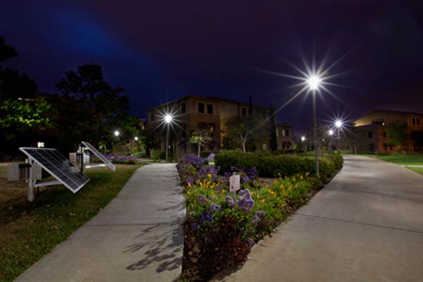 solar pathway lighting project