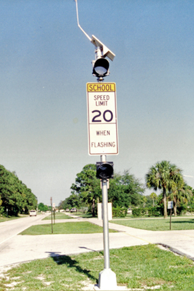 Port St. Lucie Solar School Zone Flasher