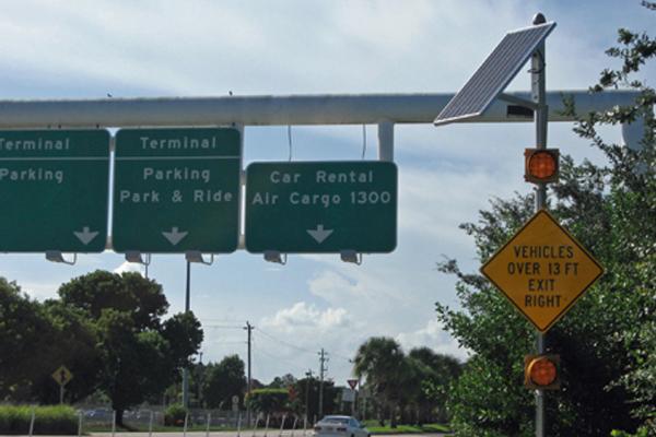 Palm Beach International Airport Solar Traffic Flasher