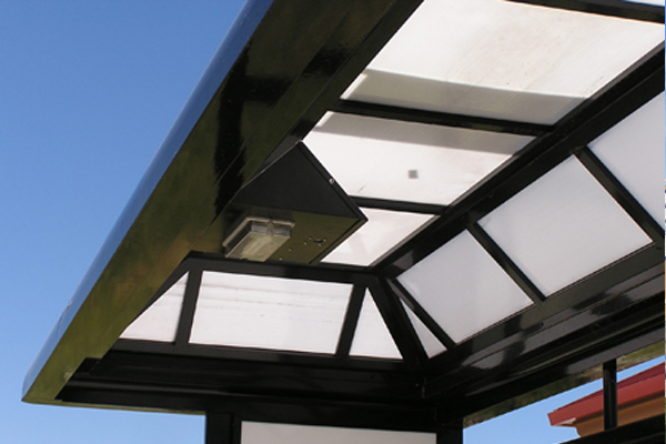 solar bus shelter light fixture