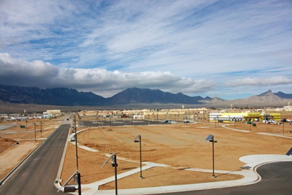 Solar outdoor parking lot lighting for US Military Facility