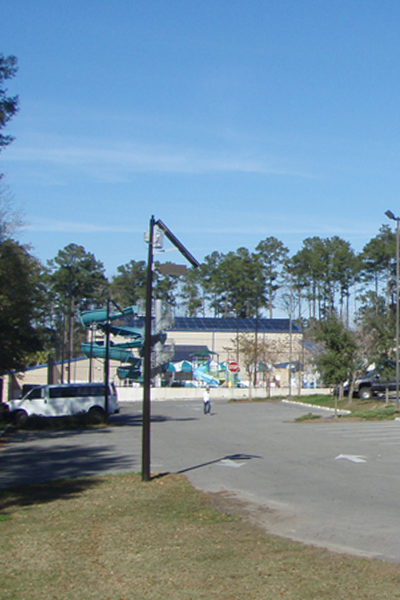 off grid solar light for parking lot