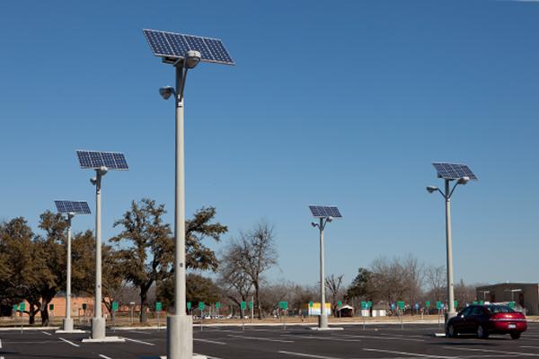 Solar Lighting for Parking Lot