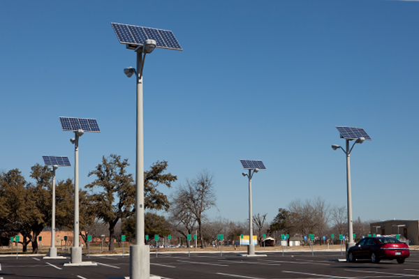 Solar Lighting for Parking Lot