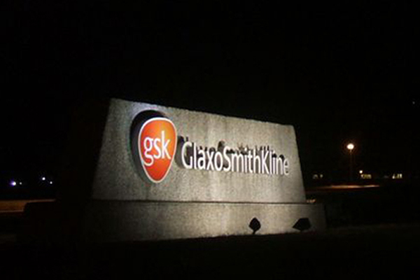 Monument Solar Sign Light at Night