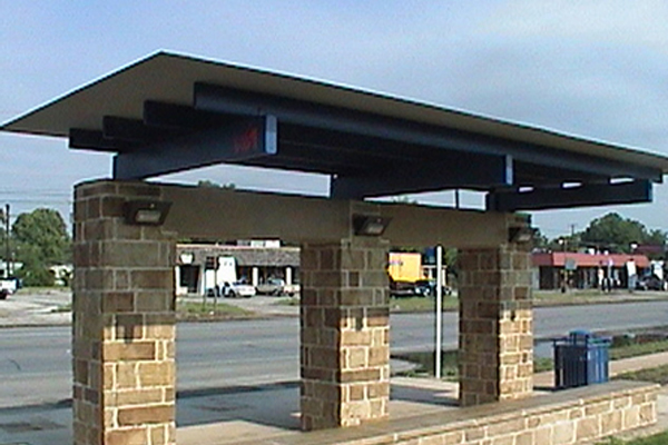 VIA Solar Bus Shelter Lighting