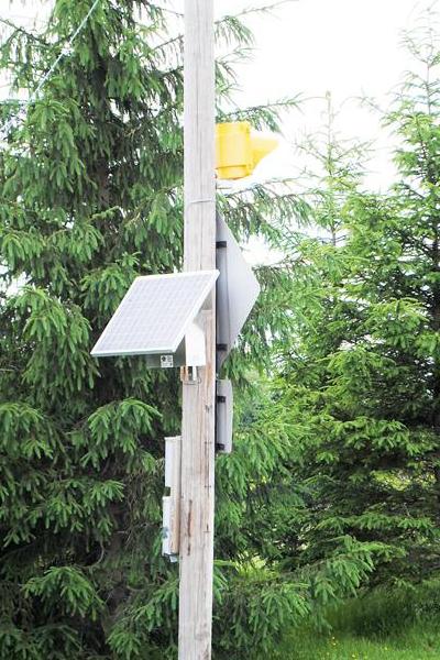 Madison County Landfill Solar Warning Flasher