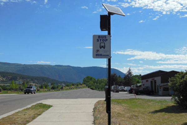 Eagle County Transit Solar Bus Stop Lighting