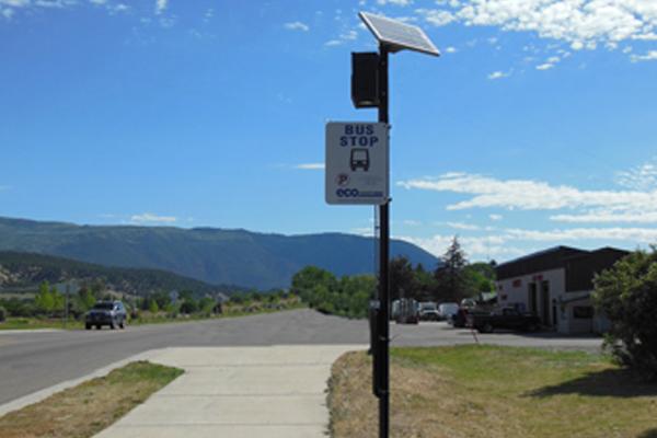 Eagle County Transit Solar Bus Stop Lighting