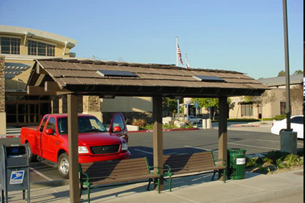 City of Walnut Solar Bus Shelter Lighting