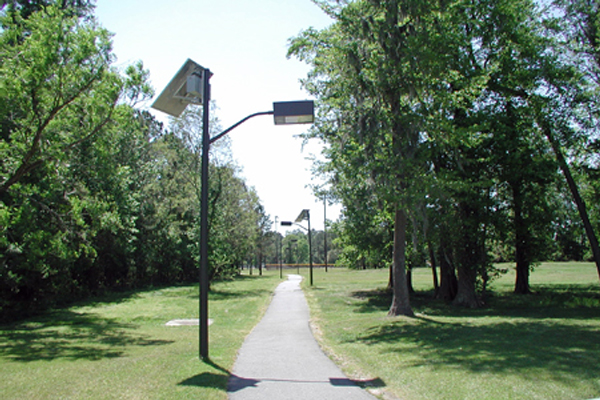 nws charleston solar jogging path lights