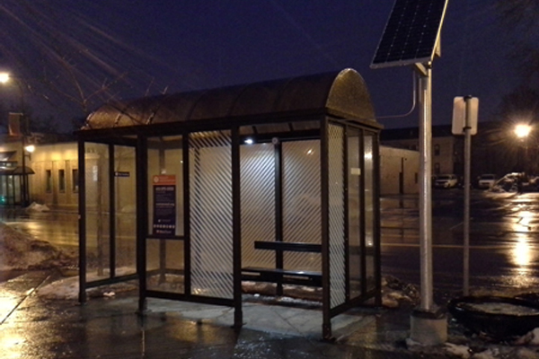Local Transit Authority Solar Bus Shelter Lighting