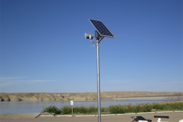 BOR Tibor Reserve Solar Security Flood Light for Boat Ramp