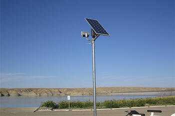 Commercial solar flood lighting at docks boat ramps for safety boat ramps and docks are typically in rural areas and do not readily have access to grid power stand alone solar powered lighting systems can easily adapt aloadofball Gallery