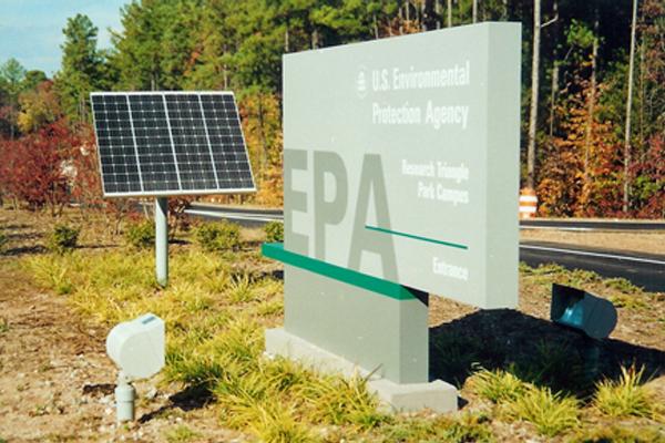 US EPA Solar Powered Sign Lighting