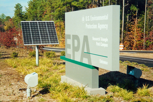 US EPA Solar Powered Sign Lighting