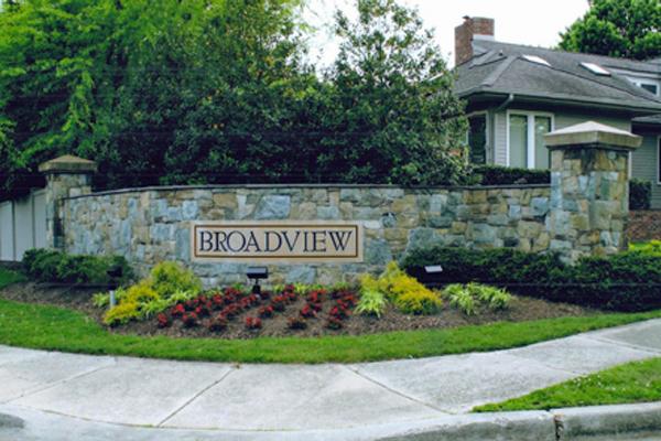 Broadview HOA solar sign lighting