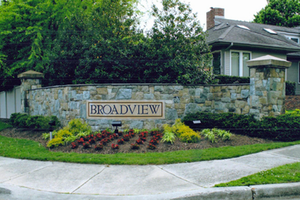 Broadview HOA solar sign lighting