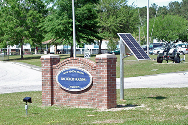 NWS Charleston Solar Sign Light