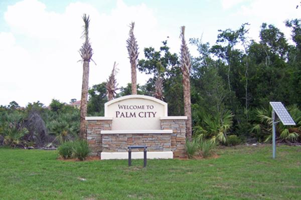 Palm City LED Solar Sign Light