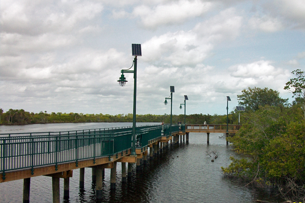 riverwalk boardwalk solar lights