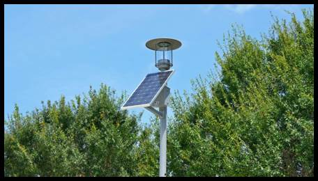 SolarSlide Decorative Post Top Solar Lighting System
