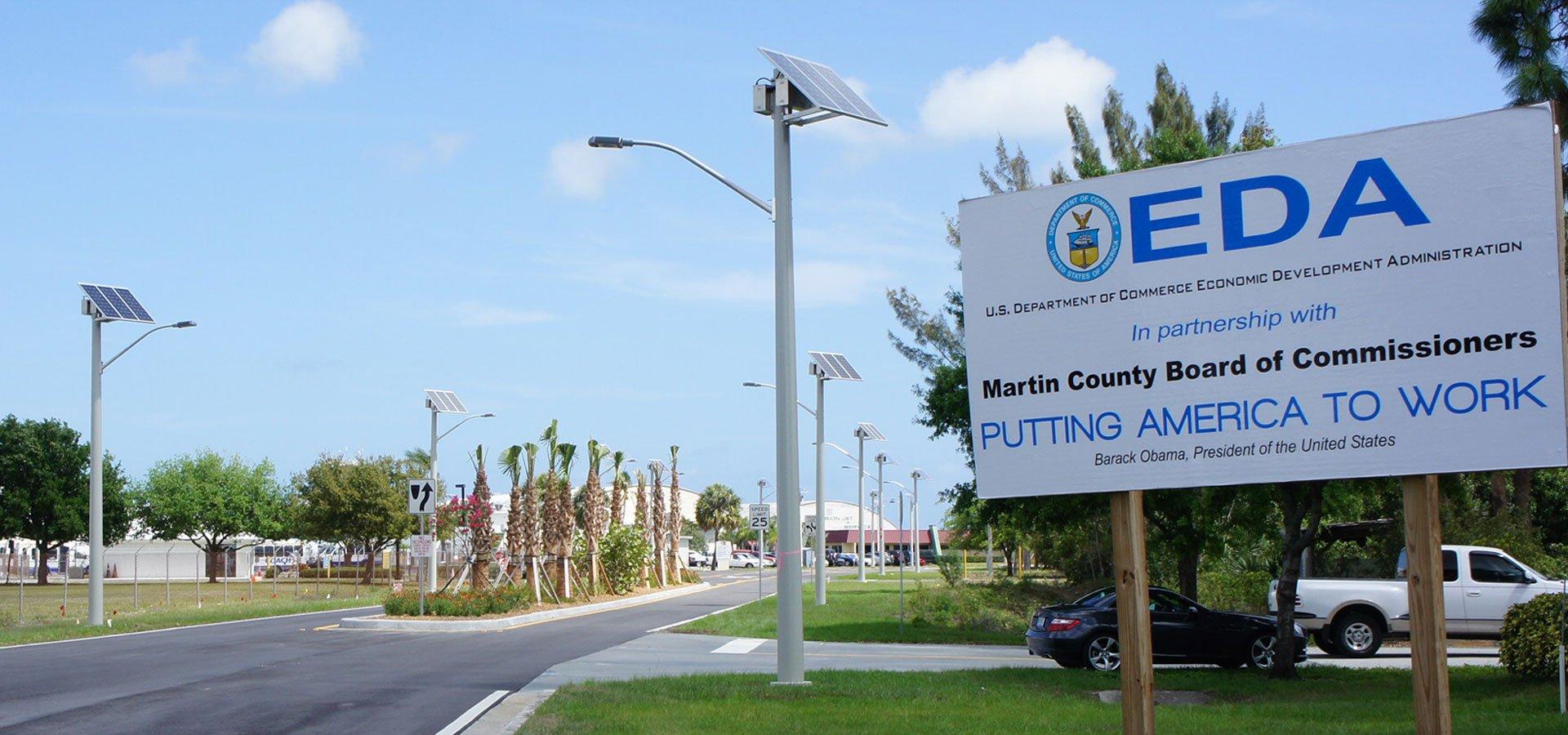 Solar LED Street Lighting Martin County Airport Road