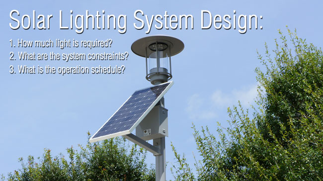 Solar Lighting System Design