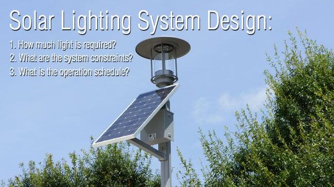 Solar Lighting System Design