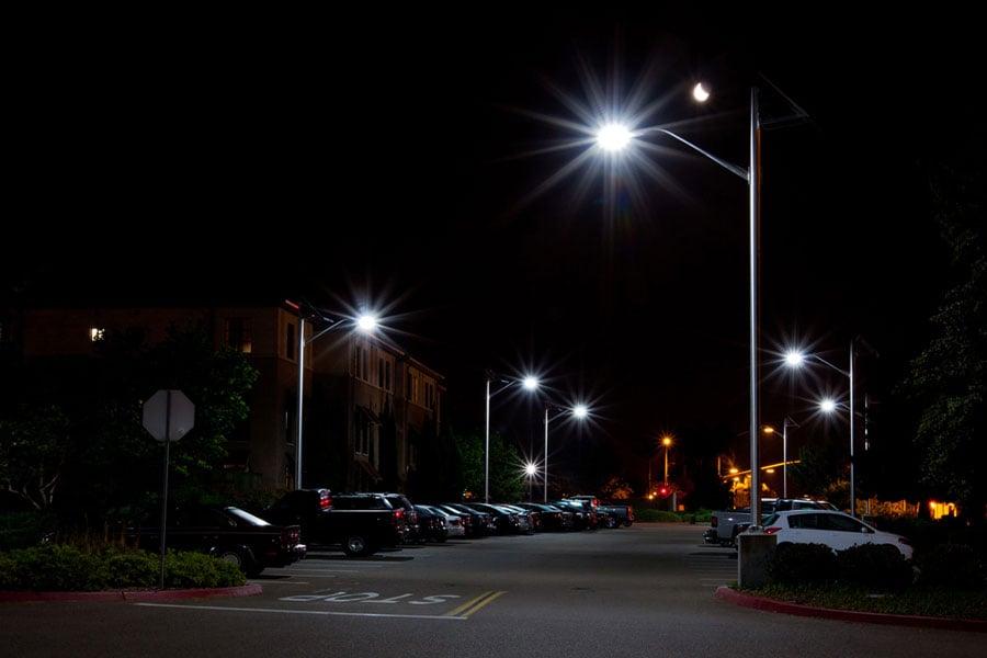 MCAS Parking After Solar LED Lighting