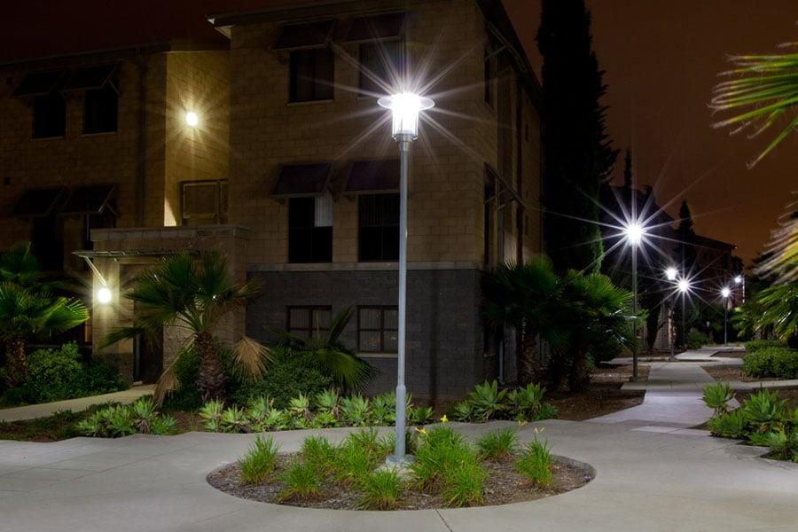 MCAS Walkway After Solar LED Lighting