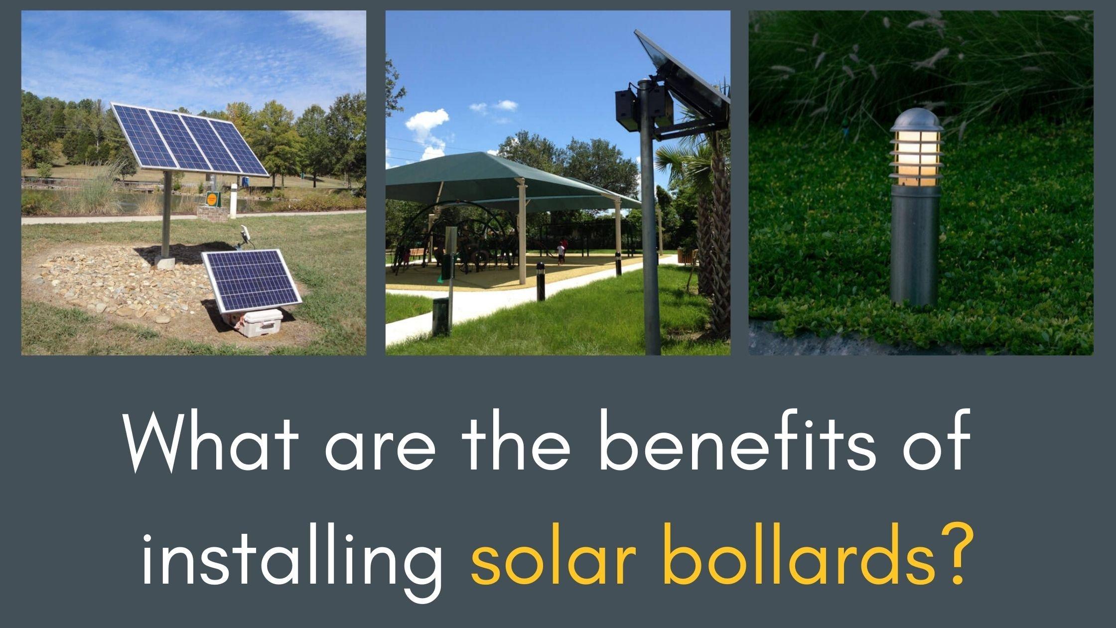 Solar Bollards Banner