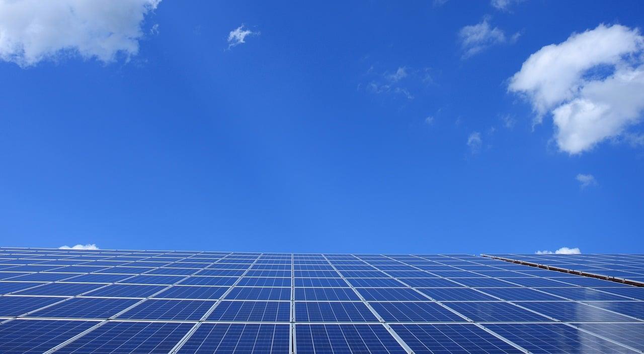 Solar Panels Clear Sky