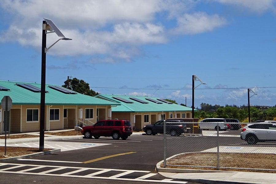 Solar LED Parking Lot Lighting for Residential Areas