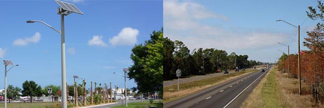 Solar Street Light vs. Traditional Street Light