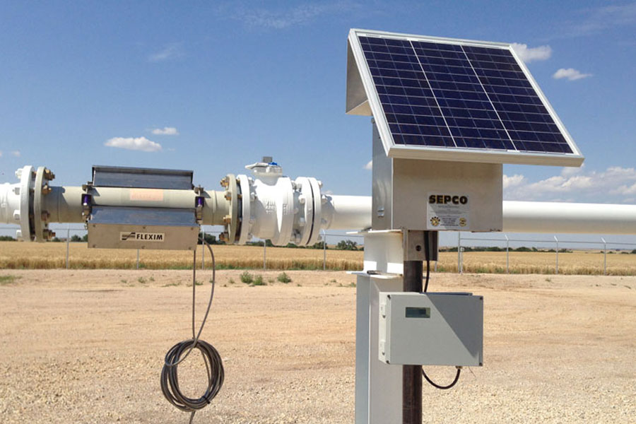 Solar Power Station for Flow Meters
