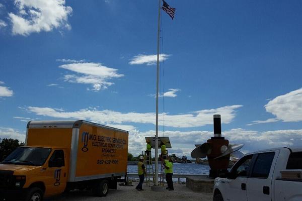 Lockport Powerhouse Solar Powered Led Flagpole Light