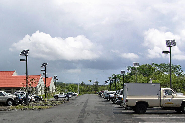 Solar Panels Bad Weather Hawaii Forestry Solar Lights Parking Lot