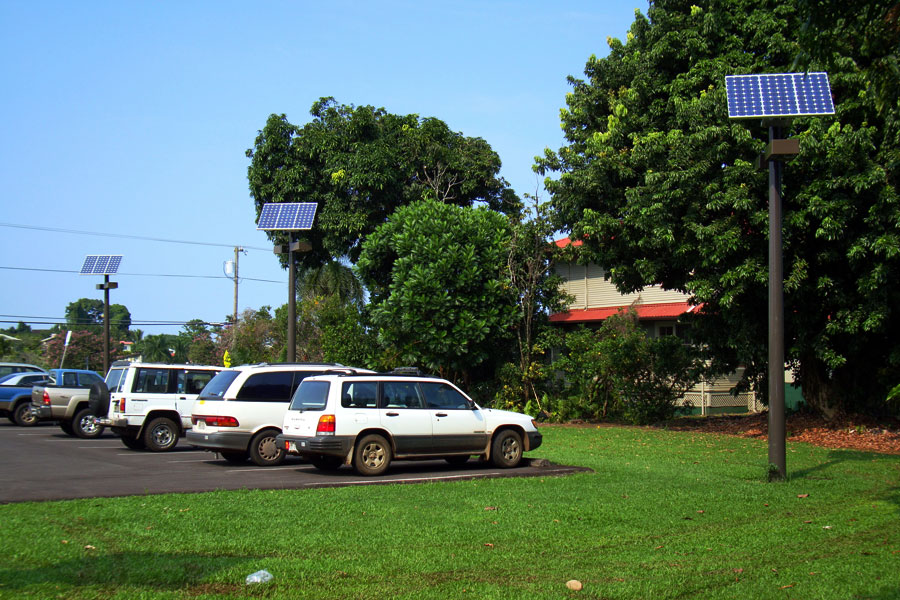 Hilo Hawaii Solar Lighting for Parking Lot
