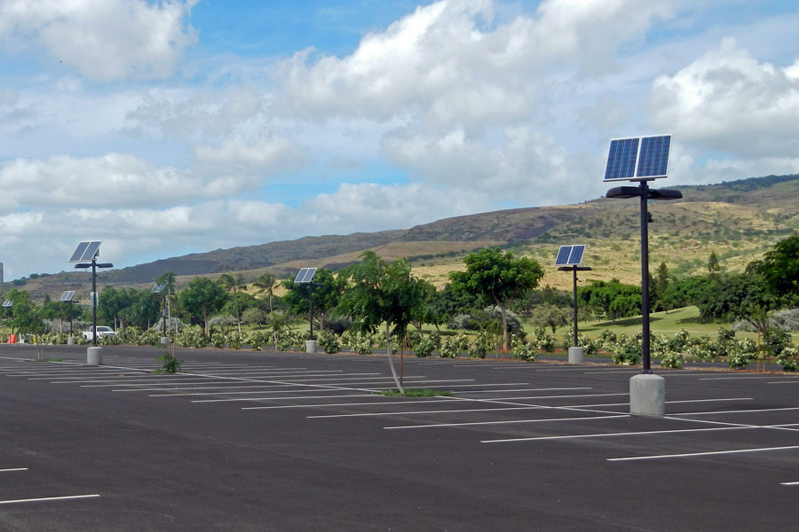 Ko Olina Golf Course Solar Powered Lights for Parking Lot