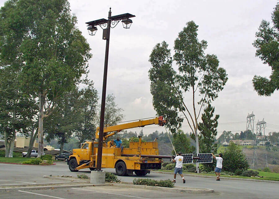 Anaheim Hills Golf Course Custom Solar Parking Lot Lights