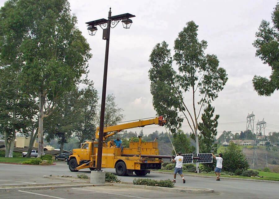 Solar Parking Lot Lighting Install