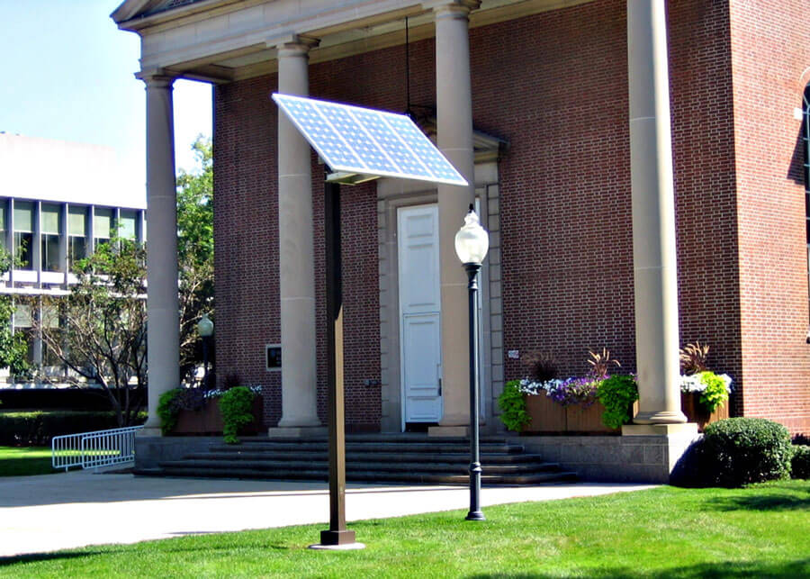 Decorative Acorn Solar Lights DePaul University