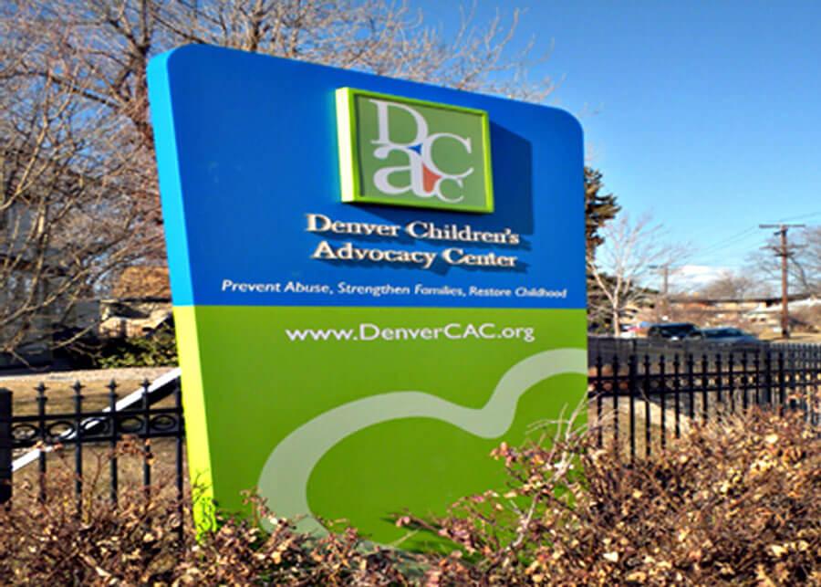 Internal LED Solar Sign Denver Children's Advocacy Center