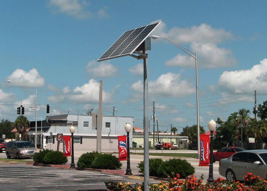 Decorative Solar Lighting Okeechobee City Hall