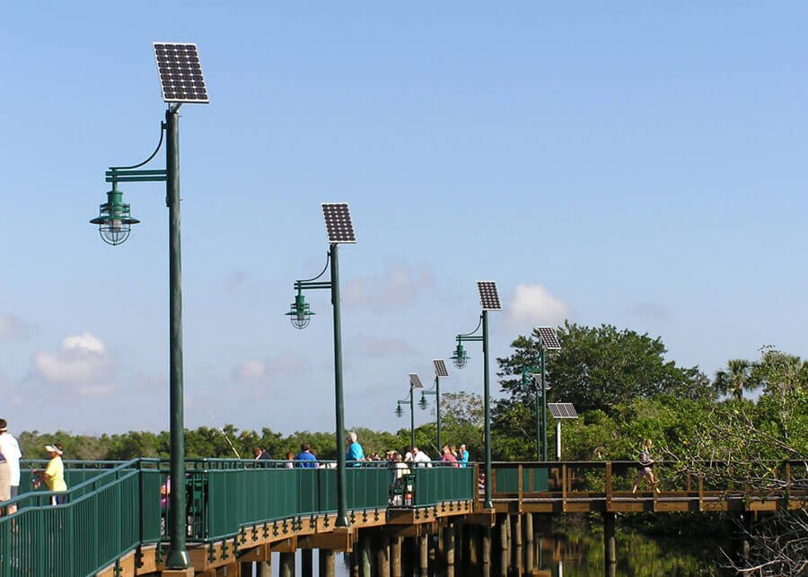 PSL Pierwalk Solar Walkway Lighting along River