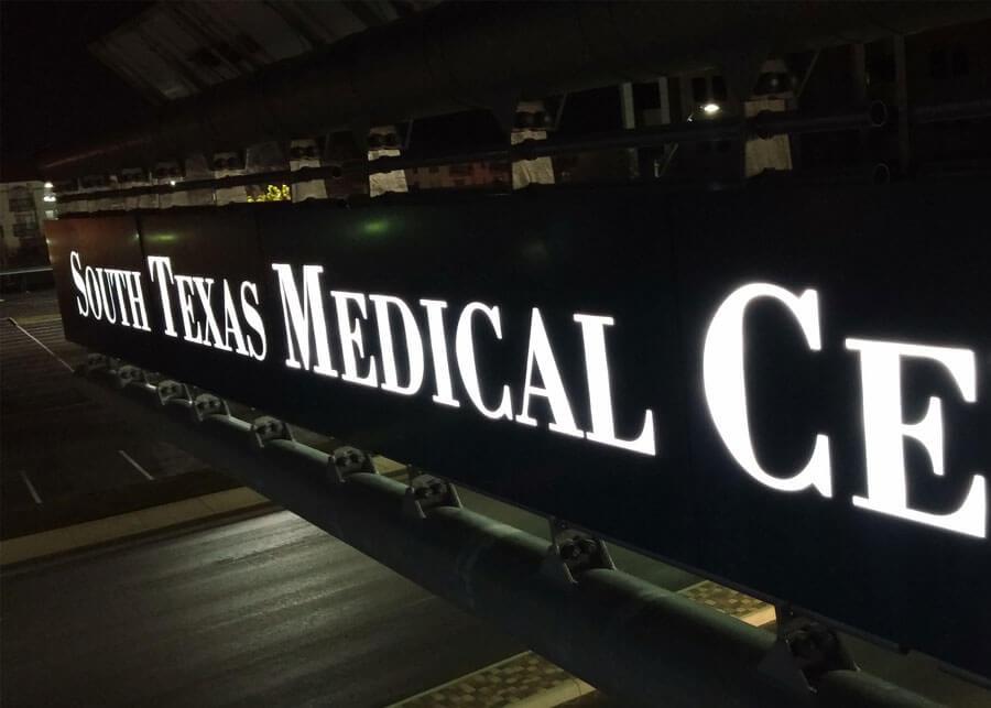 South-Texas-Medical- internally illumianted overhead sign